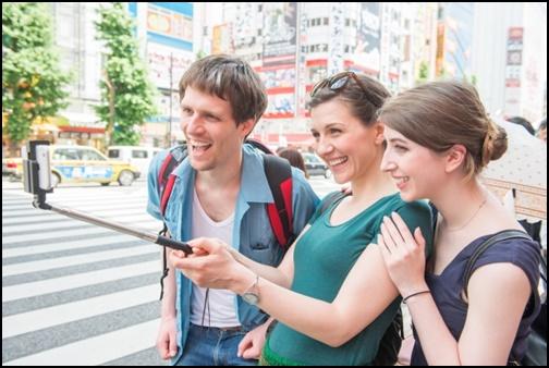 外国人観光客の画像