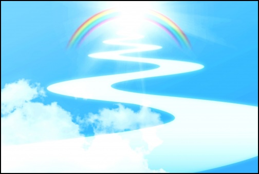 天に続く道の画像