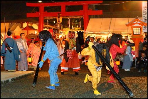 吉田神社の節分祭の画像