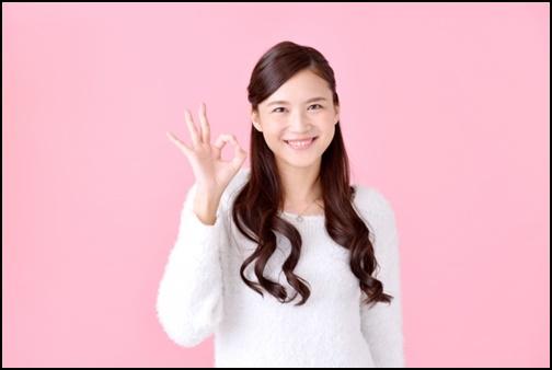 okマークを表す女性の画像