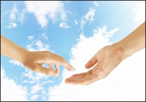 手を繋ぐ前の画像
