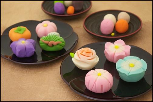 京都菓子体験の画像