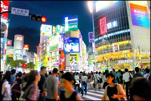 夜の渋谷の画像