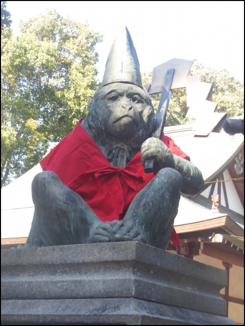 日吉神社の猿の画像