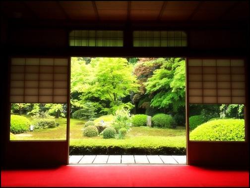 京都寺院の日本庭園の画像