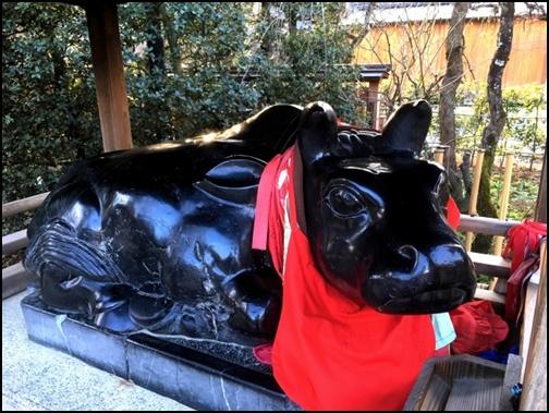 なで牛の画像