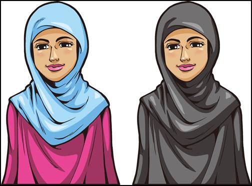イスラーム女性のイラスト画像