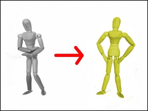 人形の態度が変わるイメージ画像