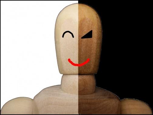 二面性・表と裏の顔を持つ人形の画像