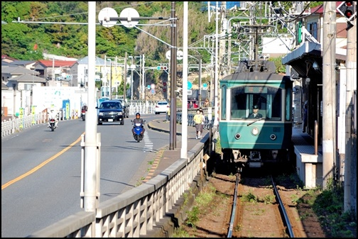 湘南の江ノ電の画像