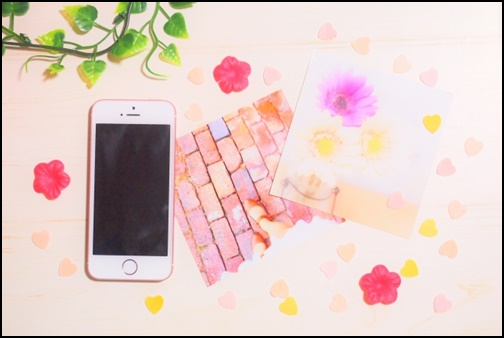 スマホとピンクの壁紙画像