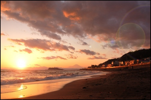 湘南の夕焼け画像