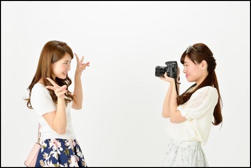 婚活のカメラ撮影の画像