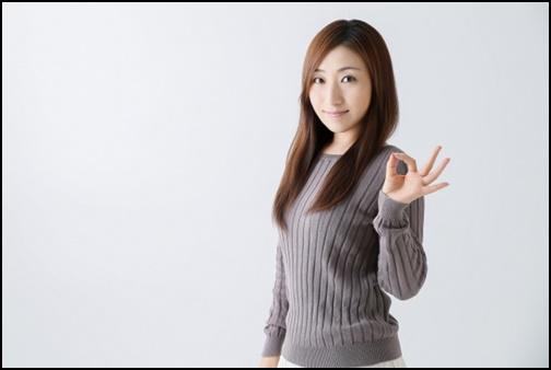okマークをする女性の画像