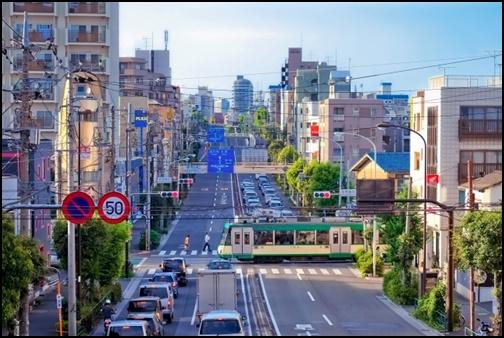 世田谷区の街並みの画像