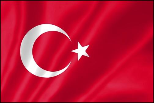 トルコ国旗の画像