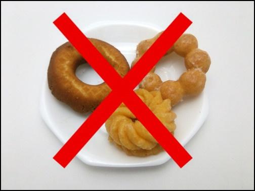 間食禁止の画像