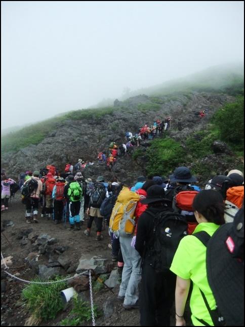富士山への登山画像