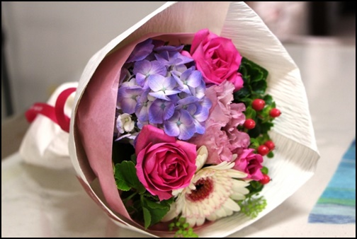 紫陽花のブーケの画像