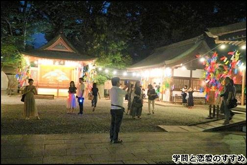 川越氷川神社の夜の画像