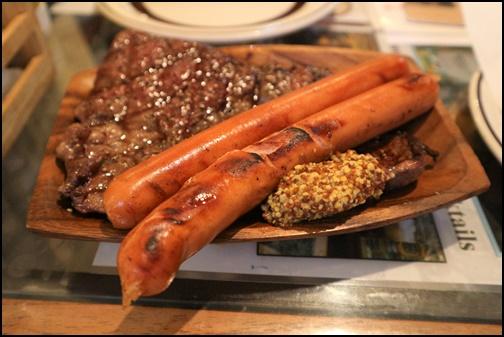 炭火焼きステーキ&ウインナーの画像の画像