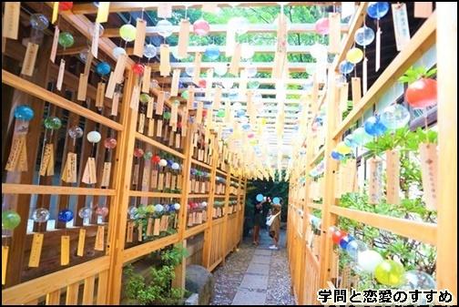 川越氷川神社の縁結び風鈴のトンネル画像