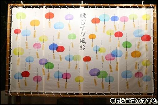 川越氷川神社の縁結び風鈴の壁掛け画像