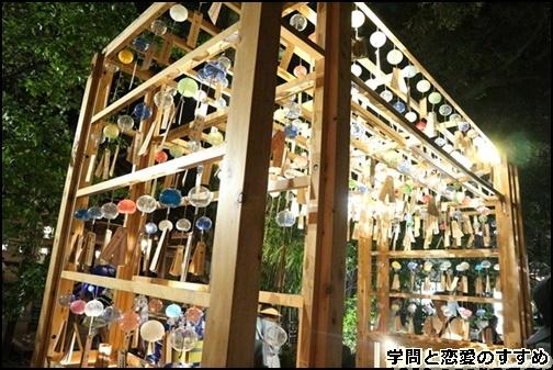 川越氷川神社の縁結び風鈴の夜の画像