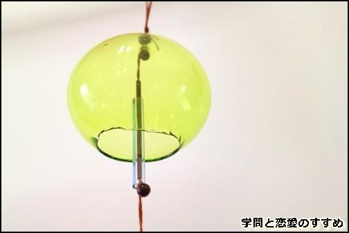 川越氷川神社の緑の風鈴の画像