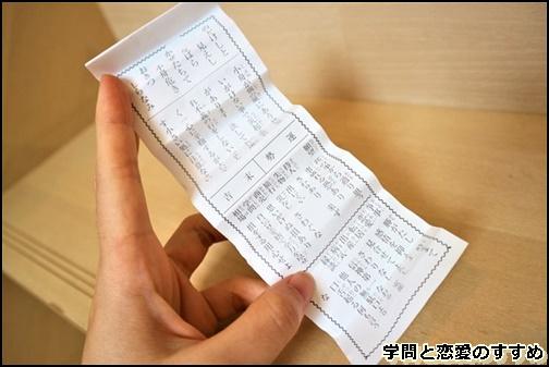氷川神社の一年安鯛みくじのおみくじの画像