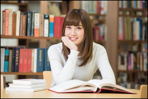 読書女子の画像