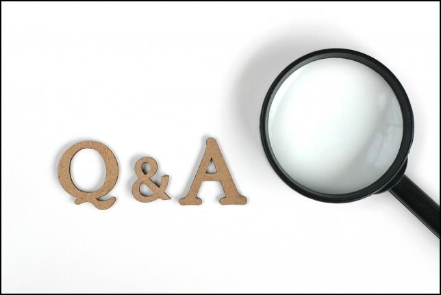 Q&Aの虫眼鏡画像